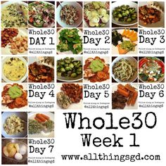 Whole30 - a week's worth of meals and recipes | www.allthingsgd.com
