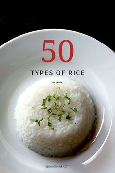 Looking for more information on Indian rice? In this guide, you will find a detailed list of different types of rice varieties used in Indian cuisine. Vegetarian Recipes Easy, Chef Recipes, Vegetarian Food, Delicious Recipes, North Indian Recipes, Indian Food Recipes, Brulee Recipe, Paneer Recipes, Pinterest Recipes