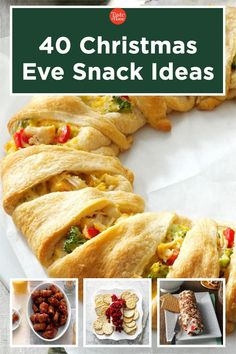 40 Christmas Eve Snack Ideas Pizza Appetizers, Holiday Appetizers, Appetizer Recipes, Holiday Recipes, Snack Recipes, Cooking Recipes, Christmas Snacks, Christmas Eve, Champion Chicken
