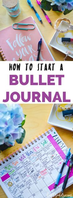 How to start a Bullet Journal, including some bullet journal layout ideas. This easy step-by-step guide will give you a ton of bullet journal ideas! // Hey There, Chelsie