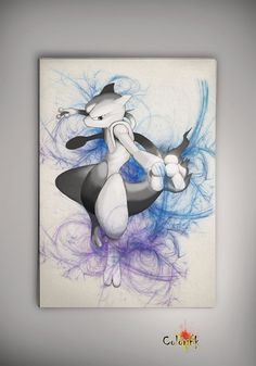 Pokemon Ash Mewtwo Watercolor Print  Archival Print  Art Print  Wall Decor Art Poster Anime Print  Manga  Cartoon Multi Size n589 on Etsy, 31,12 zł