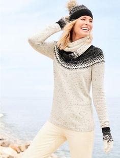 Glistening Fair Isle Sweater - Talbots