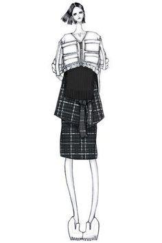 Fashion illustration - chic fashion design drawing // Issa Grimm by pam