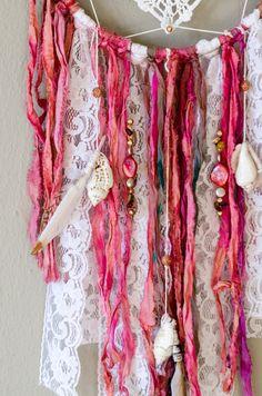 Tapetito Dreamcatcher pared colgante / rosa y por ThePixieWarrior