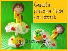 CANETA DECORADA PRINCESA BELAEM BISCUIT