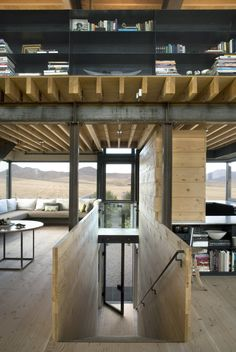 love this shot.  love everything about this  artist studio.    outpost by tom kundig/olsen kundig architects.    gorgeous