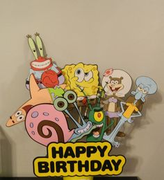 Hey, I found this really awesome Etsy listing at https://www.etsy.com/listing/235832822/spongebob-squarepants-birthday-party