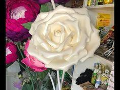 Ростовая роза для украшения из изолона. rose growth. large flowers - YouTube Paper Flowers Diy, Origami, Party, Macrame, Pink Party Decorations, Rose Arrangements, Pink Parties, Fun Diy Crafts, Gardening