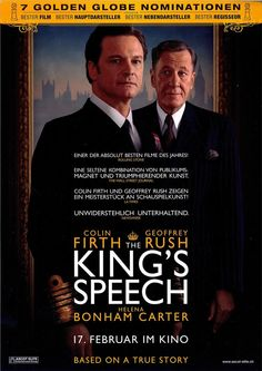 THE KING S SPEECH - COLIN FIRTH - GEOFFREY RUSH - FILMPOSTER A4