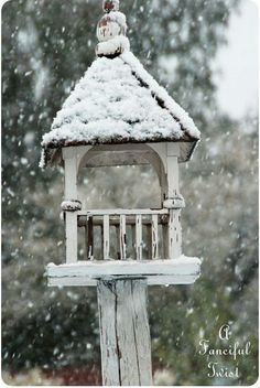 Winter is coming, time to make little spaces for small birds to live Snow Scenes, Winter Scenes, Nester, English Country Gardens, Bird Boxes, Fairy Houses, Winter Garden, Bird Watching, Winter Time