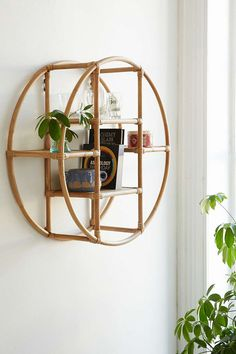 Rattan Circle Shelf Urban Outfitters