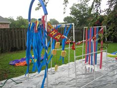 Deluxe Kids Car Wash for the backyard so easy to build, gotta give this a go next summer for the boys!http://familyfun.go.com/crafts/home-garden-projects/outdoor-projects/the-deluxe-kid-wash-709166/