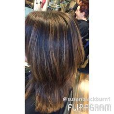 Foils and base Caramel and chocolate hair colour Matrix Chocolate Hair, Color Melting, Hair Colour, Phoenix, Caramel, Base, Long Hair Styles, Videos, Beauty