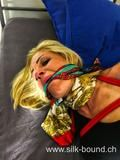Alexandra playing with scarves - getting some troubles – silk-bound
