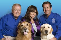 Dick Van Patten Paula Abdul, Jimmy Van Patten with guide dogs