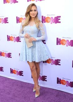 jlo's hair color.. umm and that dress... perfect