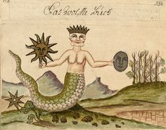 Il Serpente mercuriale - Autore sconosciuto, vissuto nel XVIII secolo - Zoroaster Clavis Artis, Ms-2-27, Biblioteca Civica Hortis, Trieste.