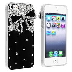 @Overstock - This is a BasAcc black with diamond and ribbon snap-on case for Apple® iPhone 5. Protect your cell phone against bumps and scratches with this case.http://www.overstock.com/Electronics/BasAcc-Black-with-Diamond-Ribbon-Snap-on-Case-for-Apple-iPhone-5/7517179/product.html?CID=214117 $9.71