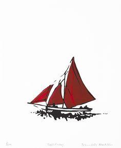 Bernadette Madden: Sail Away, screenprint, Soul Boat, Irish Landscape, Us Sailing, Sail Away, Sculpture Art, Screen Printing, Fine Art Prints, Ink, Screen Printing Press
