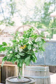 wedding centerpiece idea; Lahna Marie Photography