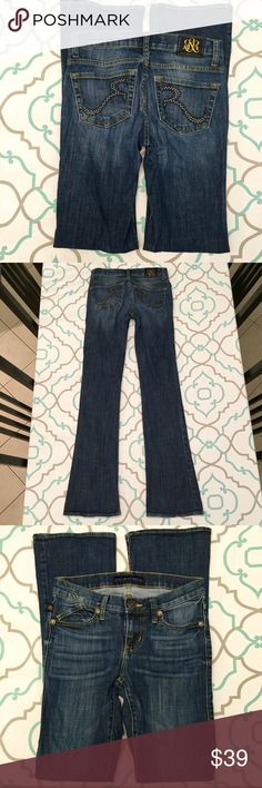 💙💘Rock & Republic Jeans💙 2 M Kasandra Flare💘💙 Rock and Republic jeans. Size 2. 98% cotton 2% spandex. A little stretch. Practically perfect condition. 32 inch inseam. 7.5 inch rise. 12.5 inches flat across the back. Dark wash. Those cute Rs across the back pockets get me every time. 💙💘💙 Rock & Republic Jeans Boot Cut