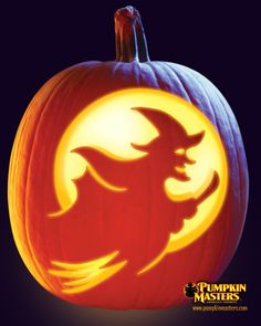 """""""Speaking of Witch"""" pattern from the Pumpkin Masters Pumpkin Carving Kit."""