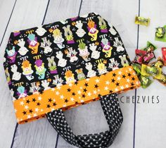 Trick or Treat Bag - Drawstring Mini Tote Bag - Halloween Theme - Ready to Ship ₹750.00 Versatile mini tote bag with broad base, perfect for everyday, whether to use it as a lunch bag for your kids, for trick or treat bag on Halloween, etc Features: Imported Korean Cotton Fabric in the o... http://www.chezvies.ecwid.com#!/Trick-or-Treat-Bag-Drawstring-Mini-Tote-Bag-Halloween-Theme-Ready-to-Ship/p/71548256