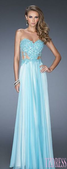 17 best Blue Dresses images on Pinterest | Blue dresses, Dress prom ...