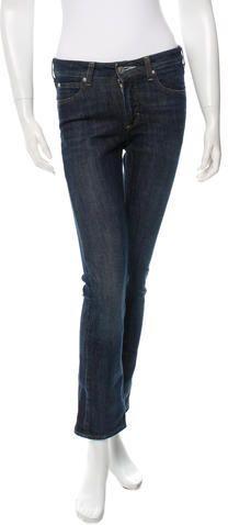 Acne Mid-Rise Straight-Leg Jeans Denim, Stylish, Jeans, Tops, Women, Fashion, Moda, Women's, La Mode