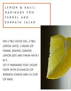 Fennel & Burrata salad