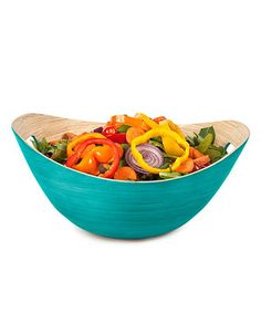 Love this Teal Large Bucket Bowl by Core Bamboo on #zulily! #zulilyfinds