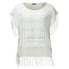 #white #top #fringes #fashion #fashionchick