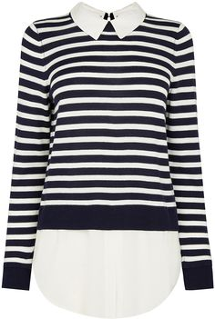 Womens black and white shirt from Oasis - £38 at ClothingByColour.com
