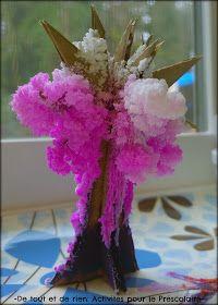 De tout et de rien: Activités pour le Préscolaire: Growing a magic crystal cherry blossom tree (Sakura) - Faire pousser un arbre magic de cristal (cerisier en fleurs)