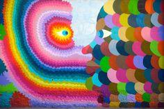 The Funky Horror Vacui: Alfano e Geometric Bang criam um colorido mural na Itália http://followthecolours.com.br/art-attack/the-funky-horror-vacui-alfano-e-geometric-bang-criam-um-colorido-mural-na-italia/