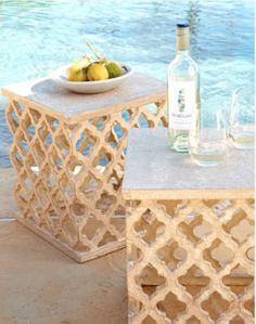 perfect poolside tables
