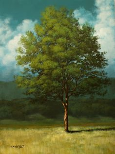 $200 Painting Blog: Blue Green Tree (by Tim Gagnon) I in love with Tim's technics, style, composition, and colors!!!!