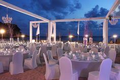 Le Meridien Phuket Hotels. Dinner on the beach in Phuket, Thailand. Yes please. Coming right up!