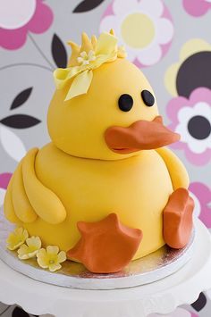 Baby Shower Cake Choco coconut cake Me to You bear cake ~ adorable! Duck cake topper via Etsy. Cupcakes, Cupcake Cakes, Baby Cakes, Baby Shower Cakes, Animal Cakes, Gateaux Cake, Novelty Cakes, Occasion Cakes, Food Cakes