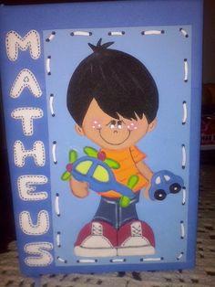 Caderno Decorado em e.v.a. para Meninos