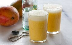 Fresh mango gives this blended drink terrific flavor. It's a great way to start the day, or enjoy it as a virgin sunset cocktail.