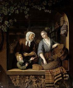 Mieris, Frans van (II) -- De kruidenierster, 1715. Рейксмузеум: часть 4