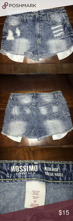 High Rise Jean Shorts Used, Good Condition Mossimo Supply Co Shorts Jean Shorts