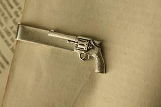 Silver Bang Bang Tie Clip by iadornu on Etsy, $30.00