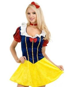 Sexy Snow White Womens Costume Halloween Large Adult Sexy Dress Deluxe Fancy | eBay