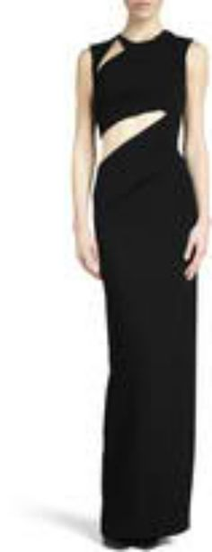 evening gown with cutouts