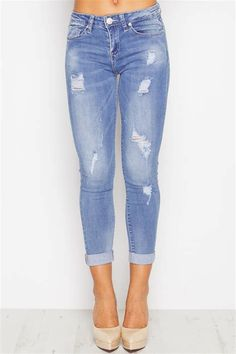 b60934051ff0 Lola Light Wash Ripped Jeans