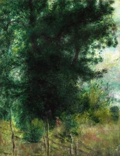 A Fence In The Forest by Pierre Auguste Renoir Handmade oil painting reproduction on canvas for sale,We can offer Framed art,Wall Art,Gallery Wrap and Stretched Canvas,Choose from multiple sizes and frames at discount price. Pierre Auguste Renoir, Renoir Paintings, Landscape Paintings, Impressionist Paintings, Landscapes, August Renoir, Cagnes Sur Mer, Landscape Sketch, Watercolor Trees