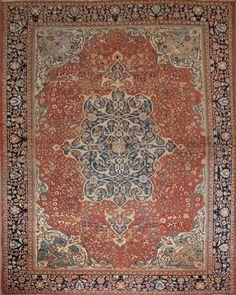 Persian Sarouk Fereghan rug, circa 1900
