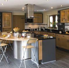 DecoIdeas para la cocina http://blog.primeriti.es/decoideas/decoideas-cocinas-acero-y-madera/